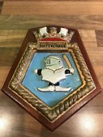 Vintage Royal Fleet Auxilary Ships Plaque SIR PERCIVALE Maritime Marine Boat