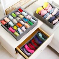 3Pc/set Closet Organizer Box Underwear Bra Sock Scarves Storage Drawer Divider H