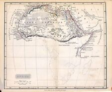Carta geografica antica storica AFRICA Arrowsmith 1840 Old antique map