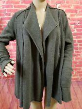 ALL SAINTS SPITALFIELDS  Open Cardigan Sweater Sz 8 Lambswool Gray Womens
