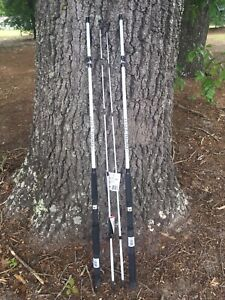 2 Coastal Tuff Casting Rods 7' Fresh/Saltwater Catfish/Trolling Medium  12-20lb