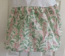 Vintage Twin Bed Skirt Dust Ruffle Floral Shabby Chic Cottage Country Pink Green