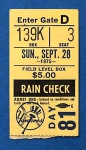 1975 Jim Palmer Cy Young Win #23 Ticket Stub - Baltimore vs Yankees Shea Stadium
