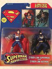Superman Man Of Steel: Cyber-Link SUPERMAN & BATMAN Figures! *Limited Edition*