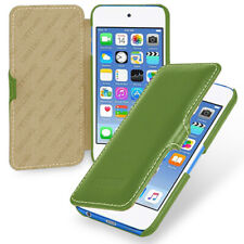 for Apple iPod Touch 7th (A2178) Genuine Leather Flip Case Clinch Closure Cover