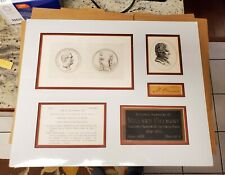 Millard Fillmore signed autographed display.
