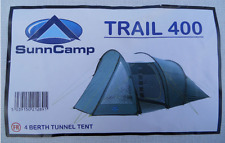 BRAND NEW SunnCamp Trail 400 4 Berth Tunnel Tent