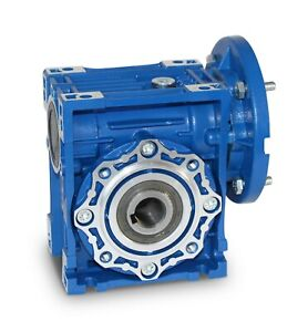 SIZE 30 RIGHT ANGLE WORM GEARBOX SPEED REDUCER 14MM BORE VARIOUS RATIOS NMRV
