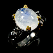 Vintage Natural Moonstone 925 Sterling Silver Ring Size 8.5/R105104