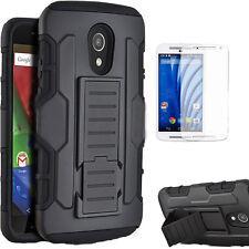 Heavy Duty Hybrid Tough Stand Case Hard Cover For Motorola Moto G 2nd Gen 2014