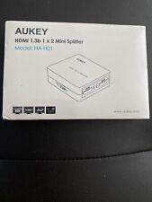 Aukey HDMI 1.3b 1 x 2 Mini Splitter Model: HA-H01 (New in Sealed Box)