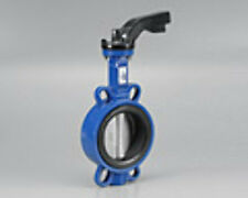 "NEW Cast Iron Wafer Style Butterfly Valve with S/S Stem 100mm (4"") - Table D Fla"