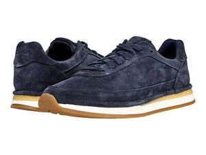 Men's Shoes Clarks CRAFTRUN LACE Suede Athletic Sneakers 60763 NAVY