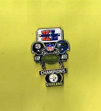 Pittsburgh Steelers Super Bowl XL40 Champions Large Dangle Football Hat Pin