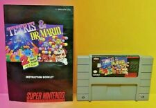 Tetris & Dr. Mario With Manual -  *Authentic* Super Nintendo SNES Game Capcom