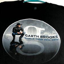 Garth Brooks World Tour 2014-2016 Adult Short Sleeve T Shirt Medium M Black Crew