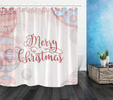 Merry Christmas Waterproof Bath Polyester Shower Curtain Liner Water Resistant