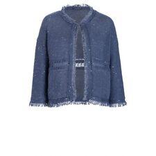 Luisa Cerano Blue Sequin Cardigan Size 42 (UK 16) RRP £270 Box4574 P