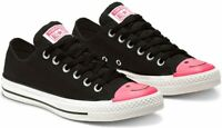 Converse Chuck Taylor All Star Black Pink White Carnival Colorblock Shoes New