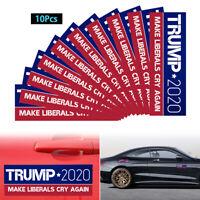 10PCS/Set Make Liberals Cry Again Trump 2020 Bumper Stickers Support Supplies