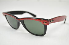 Vintage Pre Owned Rayban Ray Ban B&L Bausch & Lomb Red Black Wayfarer Sunglasses