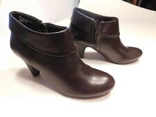 """EAST 5TH Brown Fashion Ankle Boots - 3"""" Heel - Women's Size 8M - Side Zip"""
