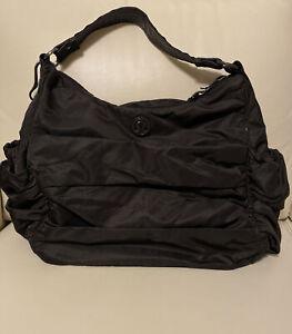 Lululemon HOT YOGA HOBO Seabed Black Large Gym Duffle Tote Crossbody BAG
