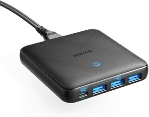 USB C Fast Charger, Anker 65W 4 Port PIQ 3.0 & GaN Fast Charger Adapter, PowerPo