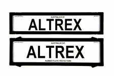 Altrex 6NLP Number Plate Frame without Pin Lines - Black
