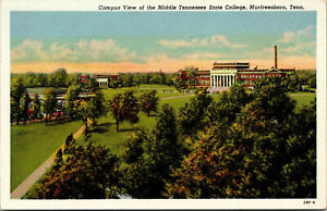 Vtg 1940s Middle Tennessee State College Campus View Murfreesboro TN Postcard