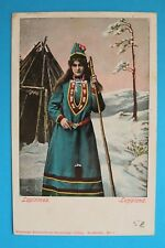 Norwegen Norge Norway AK Lapinmaa 1906 Lappland Woman costume Tracht +++