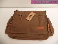 Gysan Brown suede Messenger Bag Men's Laptop Shoulder Bag