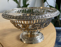 ANTIQUE GERMANY 800 SILVER GEBRUDER FRIEDLANDER OPEN WORK BOWL