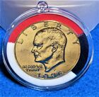Dwight D. Eisenhower 1978 Gold Plated Circulated Dollar Coin In Decor Capsule