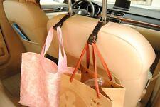Pair Car Seat Truck Coat Black Hook Bag Hanger Auto Organizer Holder For Nissan
