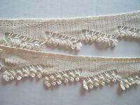 Fine vintage crochet trim edging, antique dress embellishment art deco 1930's