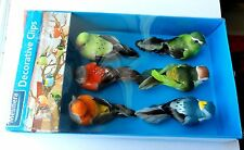 Clip-On Decorative Feathered Birds 6 Pack *** Party Decorations