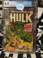 INCREDIBLE HULK #102 CGC 6.0 Marvel 1968 Premiere issue Origin Retold