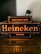 Heineken Beer Sign Light Heineken Beer Sign Lights Up Man Cave Vintage Beer Sign