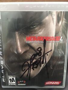 Metal Gear Solid 4  Signed By Hideo Kojima And Yoji Shinkawa