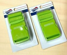 """2pk American Tourister Luggage Strap Lime Green 72"""" Adjustable Durable Woven NEW"""