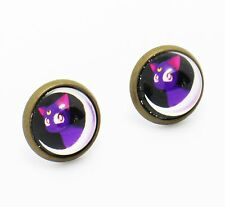Sailormoon Luna Earrings Sailor Moon Pretty Soldier Japanese Anime Manga Cats