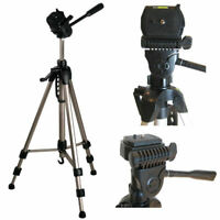 Geared system Fast Install 490mm - 1340mm // 53 Ex-Pro/® TR-654 Professional Photographic Camera Tripod for Quick Release High Quality for all sized camcorders - Suitable for Canon, JVC Everio, Panasonic, Sanyo, Sony Handycam /& Other Spirit Level