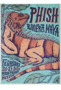 Phish Poster Riviera Maya Mexico 2020 Blue Variant 125/450