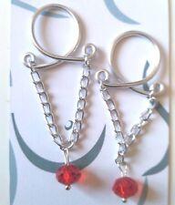 Erotic Jewelry Dangle Nipple Ring Body Jewellery Non Piercing Nipple Ring red UK