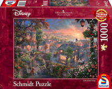 Lady and the Tramp: Schmidt Disney Premium Thomas Kinkade Jigsaw Puzzle 1000 pc