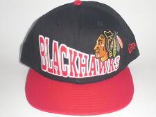 NEW ERA Chicago Blackhawks SNAP TRICK Snapback Hat Black Red OSFA ($30) NHL Cap
