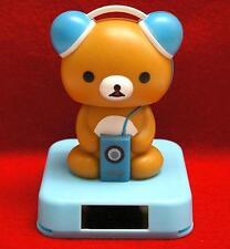 Nohohon Flip Flap Solar Powered Rilakkuma Teddy Bear Listen to Ipod #B - Blue