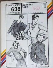 Stretch & Sew Master Pattern 638 Ms 28-44 Pullover Tops & Vest 3 Necklines
