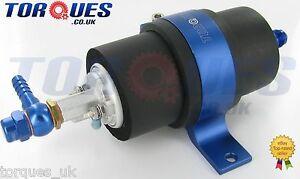 Walbro GSL392 255 LPH Fuel Pump + Billet Cradle + Barbed Push On Adapters